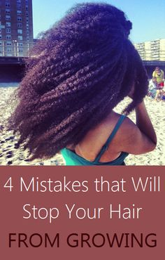4 Mistakes that Will Stop Your Hair From Growing - For women interested in growing long, natural hair the greatest challenge can often be patience. Hair goals should be realistic but also ambitious (Hair Growth African American) Natural Hair Care Tips, Long Natural Hair, Pelo Natural, Natural Hair Growth, Natural Hair Journey, Natural Hair Styles, Natural Girls, How To Grow Natural Hair, Healthy Hair Growth