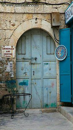 Armenian Art Center door in Jerusalem, Israel.