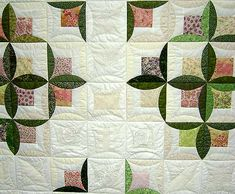 Współczesny quilt. Tu zieleń wygląda super!
