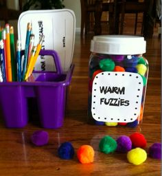 """""""Warm fuzzies"""" encourage classmates to look for the good in each other rather than the bad. This is a cute classroom idea to combat tattling syndrome."""