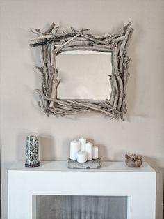 Handmade driftwood mirror by Sarah Davies @ OneOfAKind