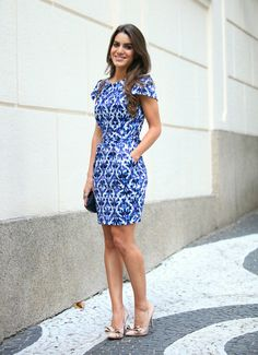 Vestido Azul - tubinho