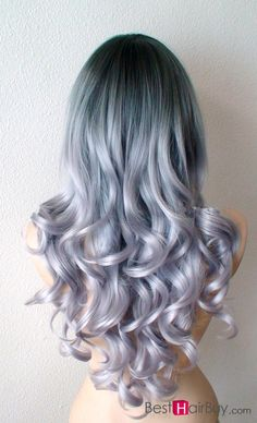 The Purple Grey Ombre Hair--100% Human #Hair.They can be dyed, cut and heat styled. You can choose the color, length and weight.If you want the private order,please #Besthairbuy