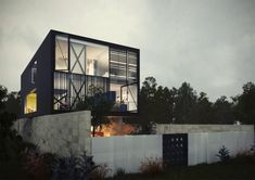 Architectural Concept of a Glass Box Home