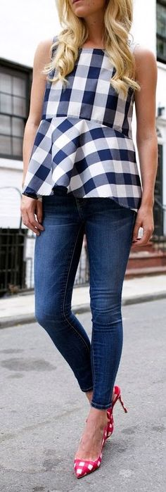 Gingham Gingham Outfit Idea by Atlantic - Pacific