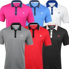 """""""new #2016"""" adidas #climacool® mens #tipped performance golf polo shirt,  View more on the LINK: http://www.zeppy.io/product/gb/2/331963724992/"""