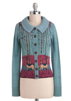 Knitted Dove Deer Jo