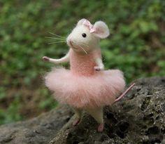 Bailarina de ratón aguja de fieltro fieltro bailarina ratón