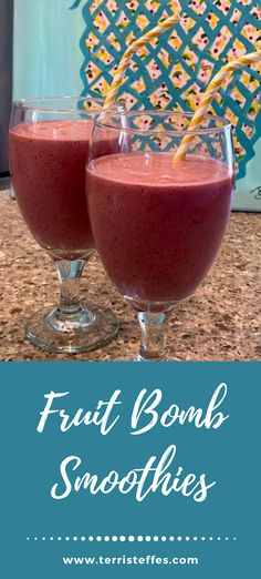 Fruit Bomb Smoothie #backtoschooltreats   Our Good Life