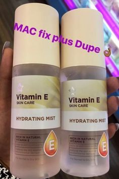 Vitamin E skin care - Hydrating Mist MAC Fix plus Dupe ριитєяєѕт mykal_thegirl - Beauty Make-up, Beauty Care, Beauty Hacks, Beauty Guide, Beauty Secrets, Vitamin E, Make Up Beratung, Mac Fix Plus, Make Up Factory