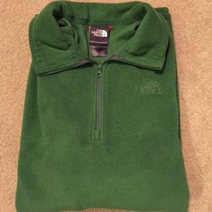The North Face Large The North Face Large men's green half zip pull over. Good condition! Smoke free pet free home! The North Face Tops Sweatshirts & Hoodies