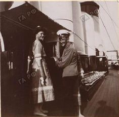 Grand Duchess Tatiana having fun with an officer on the Standart in 1911.
