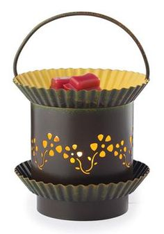 """Sun Blossom.  You may mix and match warmers to meet the (3) Master Pack minimum.   Product Specifications: Length: 4.5"""" Width: 4.5"""" Height"""" 6.5"""" Weight: 1.90 lbs Electrical Rating: 120V, 60Hz, 25W Bulb Type: NP5  Switch Type: Dial Switch Testing Approval: ETL Listed"""