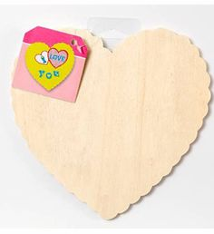 Plaid ® Wood Surfaces - Plaques - Scallop Heart    Size: Approx. 7-1/2""