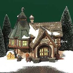 """Department 56: Products - """"Bayly's Blacksmith"""" - View Lighted Buildings"""