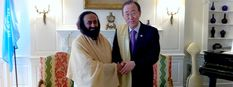 Sri Sri Ravi Shankar with Secretary General Ban Ki Moon
