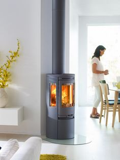 Contact or Call into our showroom at THSHeat Carnforth to have a look at our carefully selected quality stoves from Scandinavia. Once a stove is chosen we can arrange a survey with our local fully qualified Hetas stove installers. Painting Wooden Furniture, Furniture Decor, Furniture Design, Modern Wood Burning Stoves, Wood Stoves, Home Fireplace, Fireplaces, Log Burner, House On A Hill