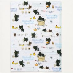 Kutusita Nyanko cat bath tub A4 plastic file folder