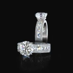 Lots of sparkle and we like the invisible setting http://www.yourengagement101.com/engagement-rings/bez-ambar/