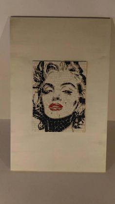 Guarda questo articolo nel mio negozio Etsy https://www.etsy.com/it/listing/545803481/marilyn-monroe-mosaic-wall-art