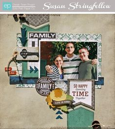 Family Layout from Reflections Collection. #echoparkpaper