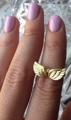Angel wings midi ring