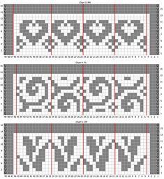 Crochet Borders, Filet Crochet, Knit Crochet, Mosaic Patterns, Knitting Patterns, Chart Design, Tapestry Crochet, Knitted Hats, Cross Stitch