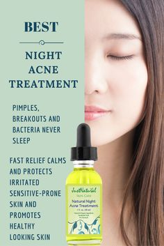Natural Night Acne Treatment / A small amount will go a long way. Your face is the main part of your body that will always be exposed to practically everything like pollution, sun, and of course many times for women it is make-up. This is made with several ingredients not found in our other products. Immediately stops the breakout or pimple from getting bigger and helps it to disappear.