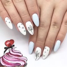 Nail art Christmas - the festive spirit on the nails. Over 70 creative ideas and tutorials - My Nails Purple Nail Designs, Flower Nail Designs, Winter Nail Designs, Cute Acrylic Nails, Cute Nails, Pretty Nails, Acrylic Spring Nails, Speing Nails, Manicure