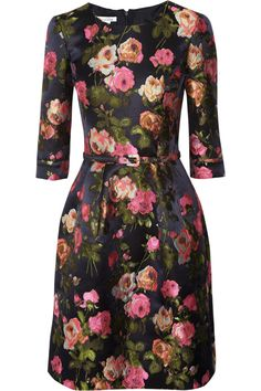 Floral jacquard dress by Oscar de la Renta