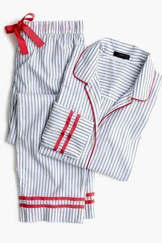 Tipped cotton pajama set : Women pajamas & intimates Kids Nightwear, Cute Sleepwear, Cute Pajama Sets, Cute Pajamas, Night Suit For Women, Pijamas Women, Nightgown Pattern, Pajama Outfits, Cute Lazy Outfits