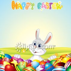Clipart.com Closeup | Royalty-Free Image of animal,animals,backdrop,backdrops,background,backgrounds,bunnies,bunny,easter,egg,eggs,field,fields,happy,hare,hares,holiday,holidays,rabbit,rabbits,wallpaper,wallpapers