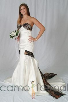 camouflage wedding dress