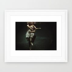 abyss+of+the+disheartened+:+V+Framed+Art+Print+by+Heather+Landis+-+$52.00