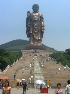 Grand_Buddha_at_Ling_Shan(99_Steps)on the Soul Mountain in the ancient city Wuxi (near Suzhou and Shanghai) in Jiangsu Province