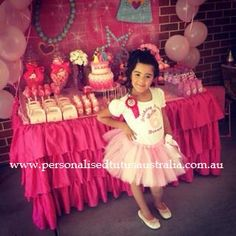 Miss Deanna's Hot Pink Princess Party ~ Outfit by Personalised Tutus Australia
