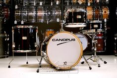 "Canopus Yaiba 4pc Bop Drum Set Ebony Lacquer  The NEW YAIBA models have inherited the great Canopus sound and have also specialized and refined the concept of the original YAIBA - but they sit in a much more affordable price range. This is a ""dream come true"" for those drummers who have always wanted to easily have the Canopus sound. Purchase Here: http://www.drumcenternh.com/canopus-yaiba-4pc-bop-kit-ebony-lacquer.html"