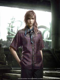 Final Fantasy XIII-2 Characters Model Prada Clothing