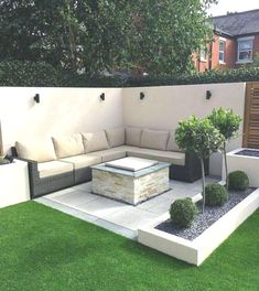 50 Awesome Modern Garden Architecture Design Ideas - All For Garden Small Backyard Landscaping, Backyard Garden Design, Small Garden Design, Patio Design, Backyard Patio, Landscaping Ideas, Mulch Landscaping, Patio Ideas, Backyard Ideas