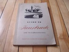 Guide To #Innsbruck And Its Surroundings #1951 #Paperback #pb #Book #Austria With Ads #Vintage #Ebay