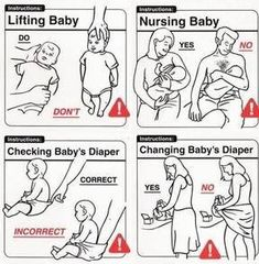 Baby Beratung – Babypflege - Home Baby Care Page Funny Shit, The Funny, Funny Jokes, Baby Humour, Baby Handling, Baby Memes, Funny Relatable Quotes, Parenting Humor, Parenting Advice