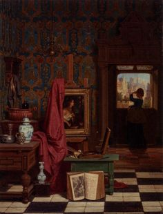 THE ARTIST'S STUDIO, by Charles Joseph Grips