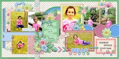 Layout using one of AK Designs' 2 Page Pack 8 templates available at Scraps N Pieces for only USD2.00 for a very limited time.   Kit is FLORAL FANTASY by Lindsay Jane Designs At Pickleberrypop