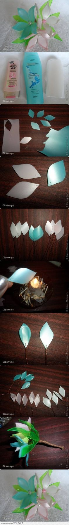 DIY Plastic Bottle Flower Bunch DIY Projects | UsefulDI… na Stylowi.pl