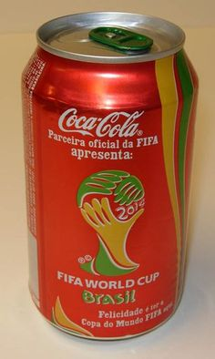 Coca-Cola Brazil advertising the upcoming 2014 world-cup. It doesn't take much reading to spot a Coca Cola bottle.