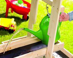 """toom Kreativwerkstatt – Water playground """"Pitsch-Patsch"""" - All For Garden Water Playground, Outdoor Playground, Summer Activities For Kids, Diy For Kids, Summer Kids, Outdoor Play Spaces, Mud Kitchen, Play Yard, Backyard Play"""