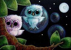 owls! in bubbles!