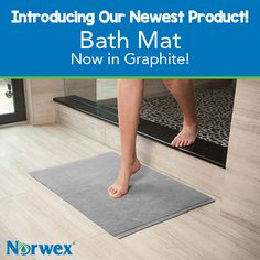 Step out of the shower or bath onto the super-soft #luxury of this highly absorbent microfiber mat, which holds up to 10 times its weight in water. #Norwex2015