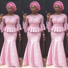 African fashion is available in a wide range of style and design. Whether it is men African fashion or women African fashion, you will notice. Nigerian Lace Styles, African Lace Styles, African Lace Dresses, African Dresses For Women, African Attire, Ankara Styles, African Style, African Clothes, Nigerian Clothing
