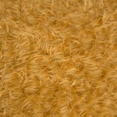 Faux Fake Fur Long Pile Curly Gold 60 Inch Fabric by the Yard (F.E.®) -- golden fleece
